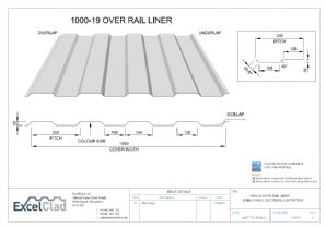 ExcelClad 1000-19 Over Rail